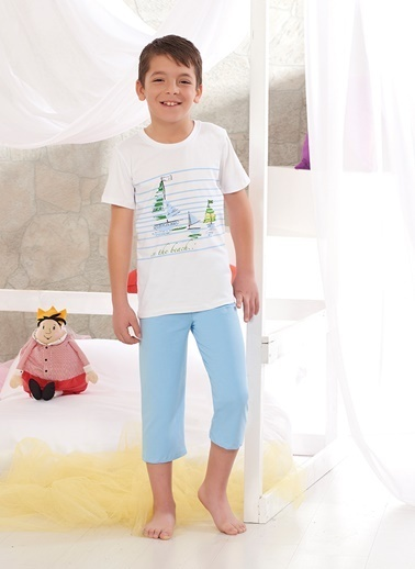 Zeyzey Pijama Takım Beyaz